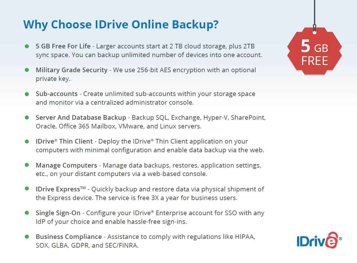 Why Choose IDrive Online Backup.