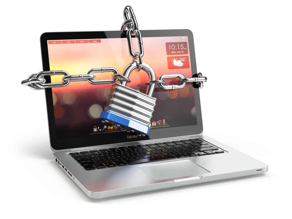 Computer or laptop encryption representation